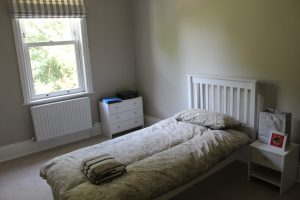 One of the bedrooms in Reservoir Lodge, Care in Mind's service in Leeds