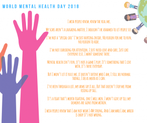 World Mental Health Day -2018-CareinMind-Stockport- 2