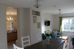 Cherryhurst's open-plan Kitchen and Lounge area